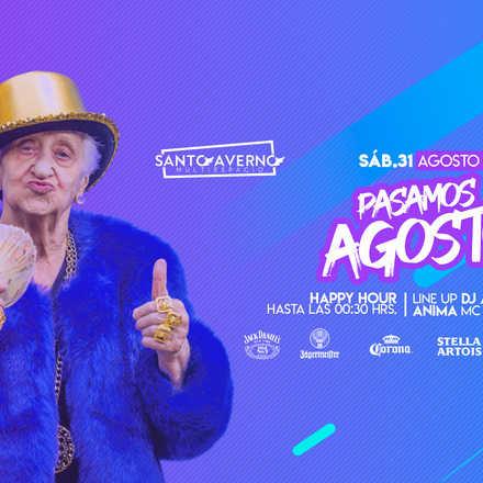 "Santo Averno ""Pasamos Agosto"" Sábado 31 Agosto"