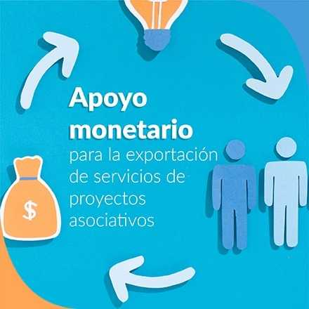 Apoyo monetario para la exportación de servicios de proyectos asociativos