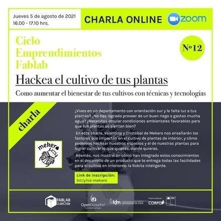 Charla: Hackea el cultivo de tus plantas