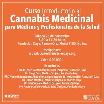 Curso Introductorio al Cannabis Medicinal para Médicos y Profesionales de la Salud, noviembre 2019
