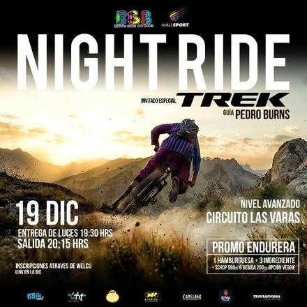 Night Ride con Burgers Beers & Boards y NiteRider