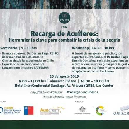 Recarga de Acuíferos: Herramientas clave para combatir la crisis de la sequía. SEMINARIO + WORKSHOP