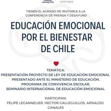 Conferencia Prensa: Educación Emocional por el Bienestar de Chile