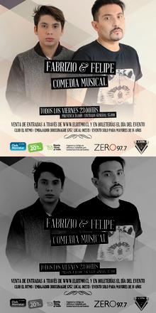 FABRIZIO Y FELIPE / COMEDIA MUSICAL / @ EL RITMO