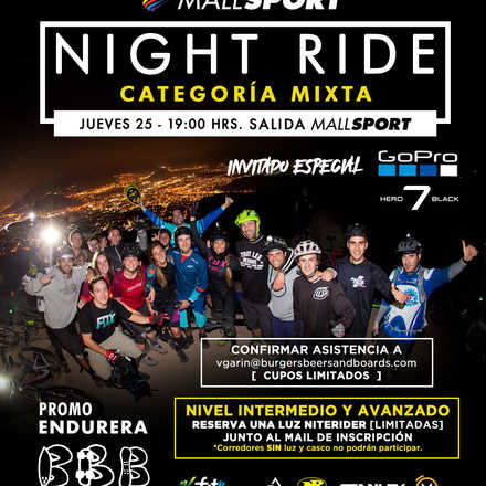 Night Ride - Mallsport / Burgers, Beers & Boards - by GoPro and Niterider.