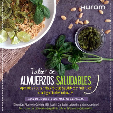 Taller Hurom Almuerzos Saludables 29 Octubre