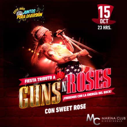 Fiesta Tributo a Guns N Roses en MC