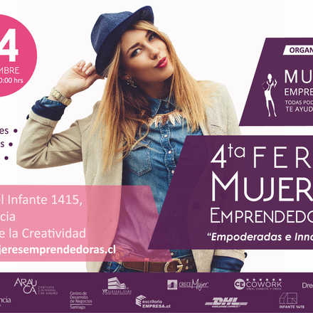 """4ta Feria de Mujeres Emprendedoras """"Empoderada e Innovadora"""""""