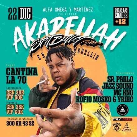 Akapellah en Medellin (SPITBULLET FEST)