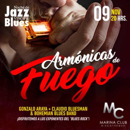 8° Noche de jazz Vinos & Blues Armónicas de Fuego