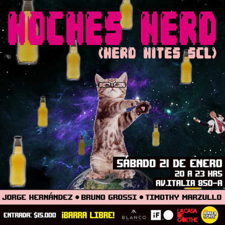 Noche Nerd Enero / Nerd Nite SCL