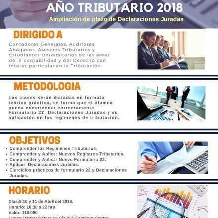 Operación Renta Año Tributario 2018 Ampliación de Plazo Declaraciones Juradas