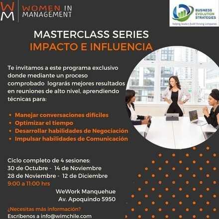 Masterclass series: Impacto e Influencia