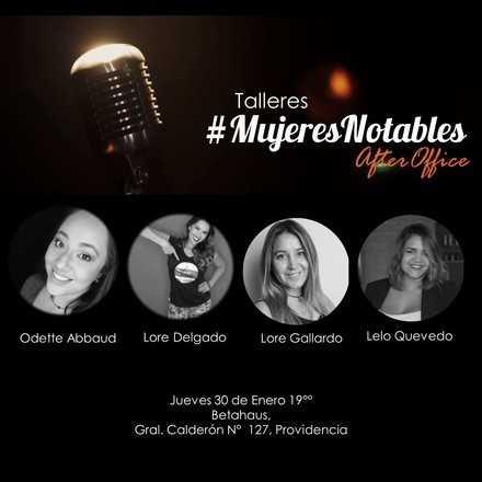 3°Taller de #MujeresNotables