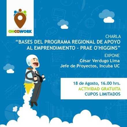 Bases del Programa Regional de Apoyo al Emprendimiento - PRAE O'Higgins