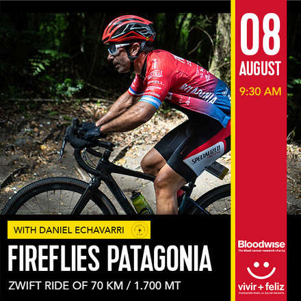 Fireflies Patagonia Zwift Ride 8 de Agosto