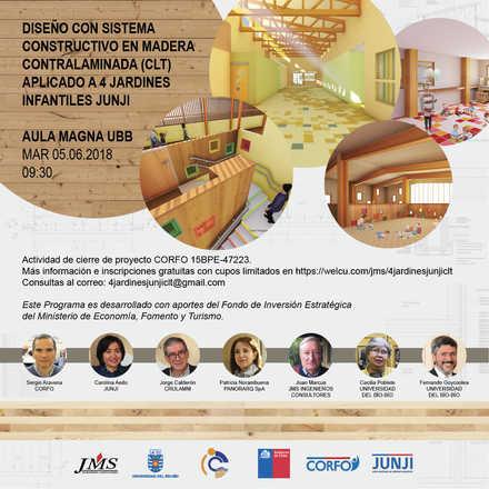 DISEÑO CON SISTEMA CONSTRUCTIVO EN MADERA CONTRALAMINADA (CLT) APLICADO A 4 JARDINES INFANTILES JUNJI