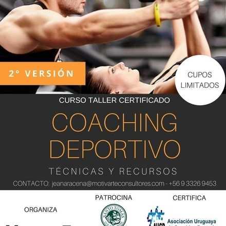 Curso Taller Certificado Coaching Deportivo, Técnicas y Recursos