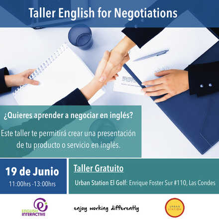 Taller: English for Negotiations - ¿Quieres aprender a negociar en inglés?