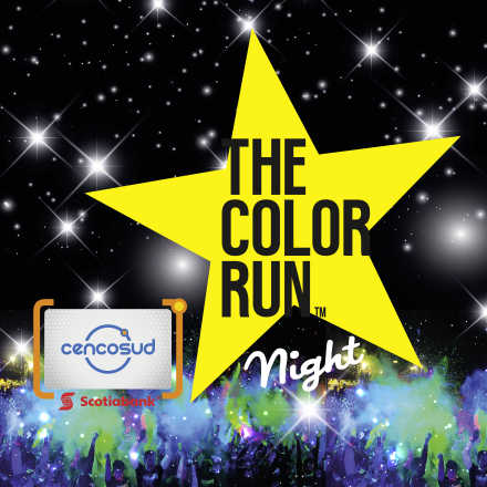 The Color Run Night Tarjeta Cencosud