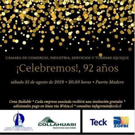 Aniversario 92 años Cámara de Comercio de Iquique