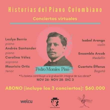 Abono de tres conciertos Pedro Morales Pino