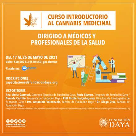 Curso Introductorio al Cannabis Medicinal dirigido a Médicos y Profesionales de la Salud - mayo 2021