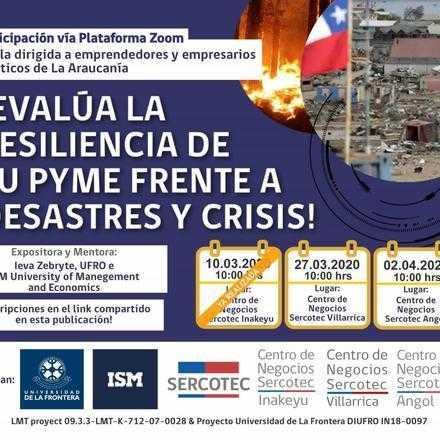 Webinario Angól: Evalúa la Resiliencia de tu Pyme frente a Desastres y Crisis
