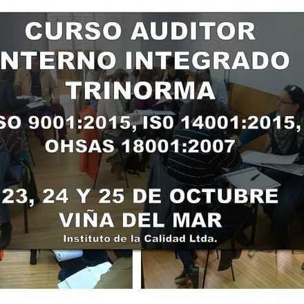 Curso Auditor Interno Integrado Trinorma  ISO 9001:2015, ISO 14001:2015, OHSAS 18001:2007