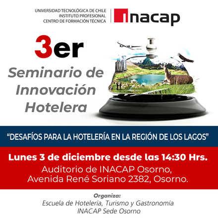 3er Seminario de Innovación Hotelera INACAP Osorno