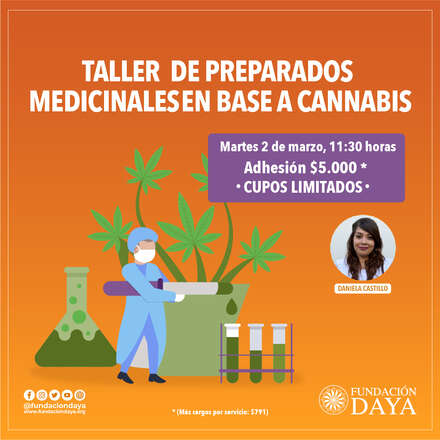 Taller de Preparados Medicinales en Base a Cannabis 2 marzo 2021