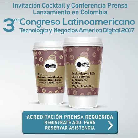 Conferencia prensa Lanzamiento Colombia 3er Congreso America Digital