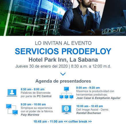 Desayuno Servicios ProDeploy Dell Technologies