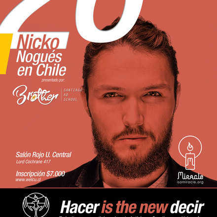 """Hacer is the new Decir"" Nicko Nogués en Chile"