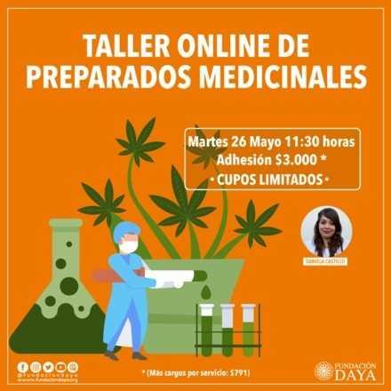 Taller de Preparados Medicinales en Base a Cannabis 26 mayo