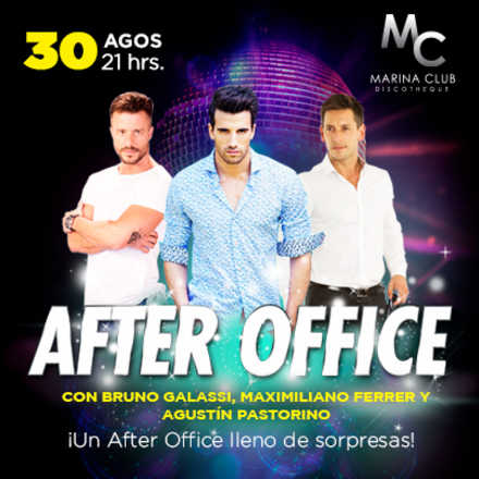 After Office con Galassi, Ferres y Pastorino