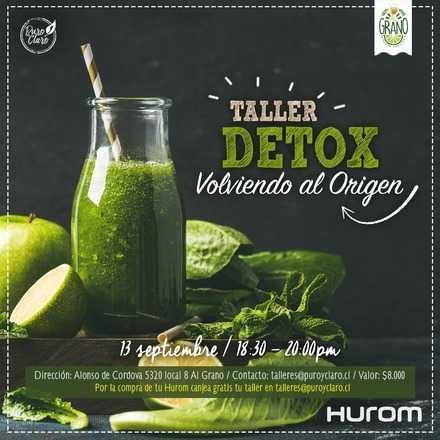 Taller Hurom - Detox, volviendo al origen