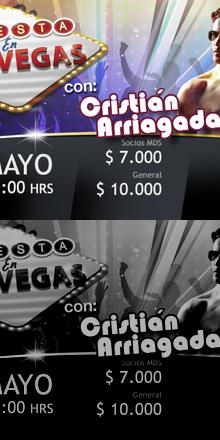 Fiesta en las Vegas con Cristian Arriagada