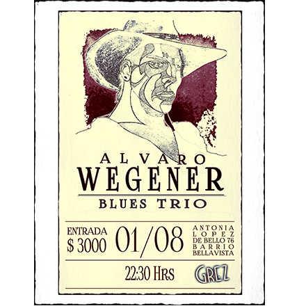 ALVARO WEGENER BLUES TRÍO | Grez Blues Club