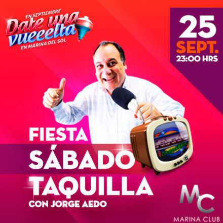 """Fiesta """"Sábado Taquilla"""" 80's y 90's con Jorge Aedo"""
