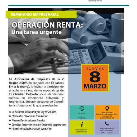 Seminario Empresarial Operación Renta: Una tarea urgente.