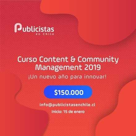 Curso Presencial - Content & Community Management 2019