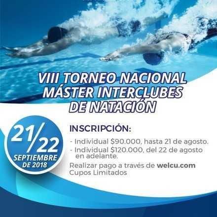 MASTER NACIONAL NATACION CLUB CAMPESTRE CALI  SEPT 21-22