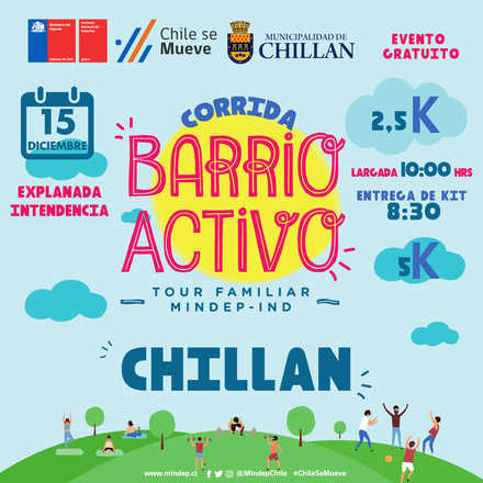 CORRIDA TOUR FAMILIAR MIndep IND ÑUBLE 2019 ¨Barrio Activo¨