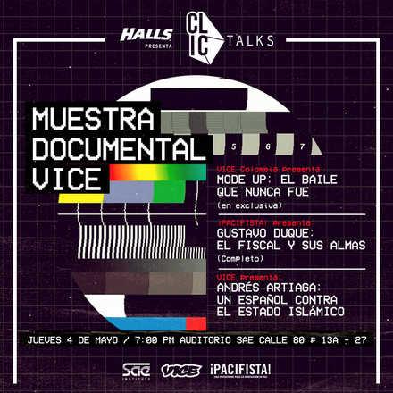 CLIC Talks - Muestra documental VICE (Evento Gratuito)
