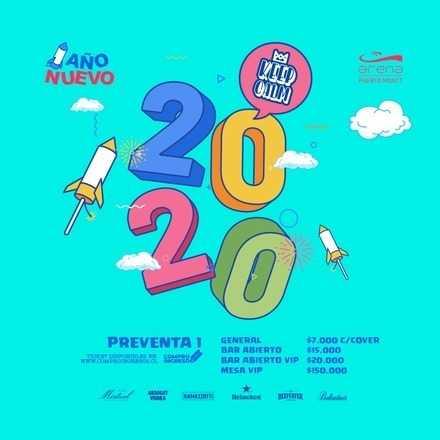 Año Nuevo 2020 --> Keep Calm Fiestas // Bar Abierto VIP $20.000