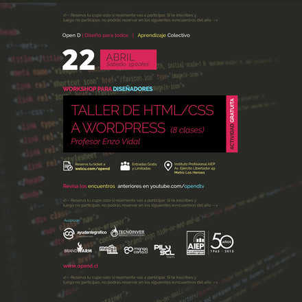 Workshop Web - De HTML/CSS a Wordpress
