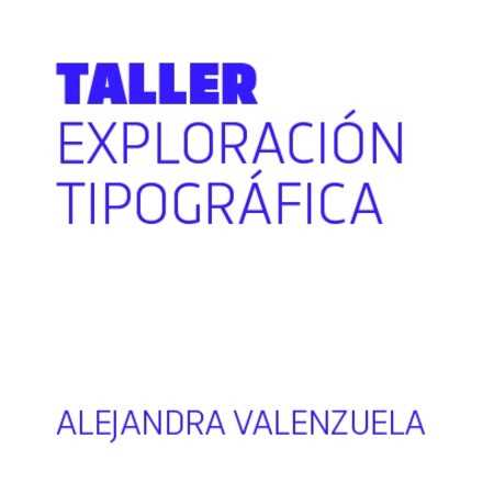 Exploración tipográfica