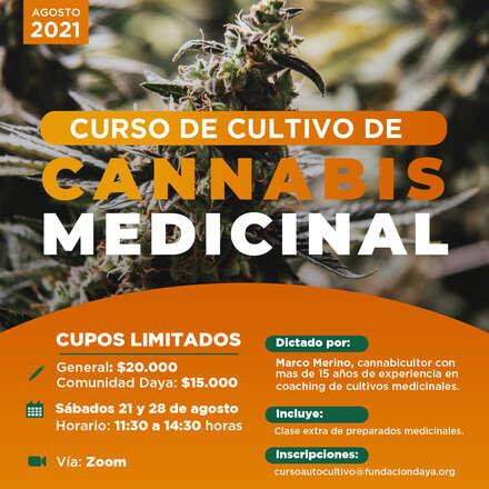 Curso de Cultivo de Cannabis Medicinal agosto 2021