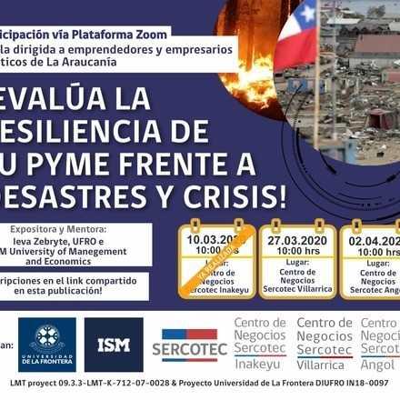 Webinario: Evalúa la Resiliencia de tu Pyme frente a Desastres y Crisis